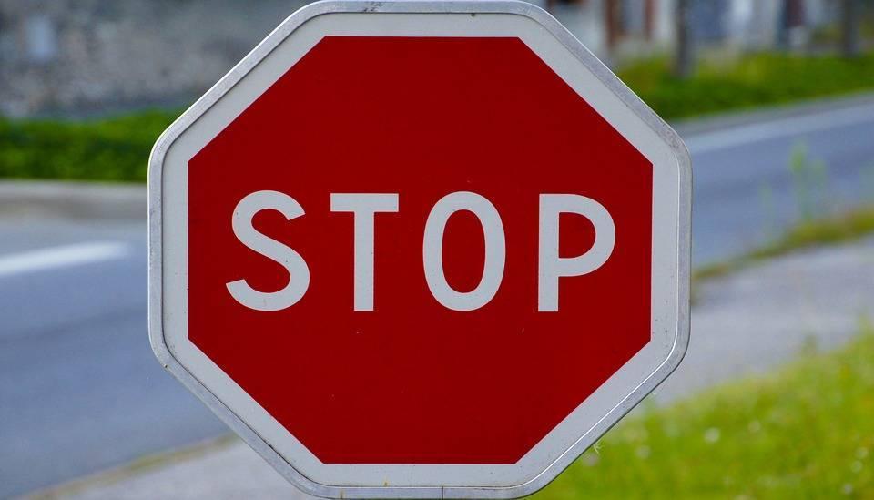 Panneau, Stop, Signalisation, Route, Trafic
